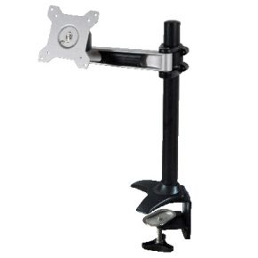"Up to 24"" 12kg Single Screen Monitor Desk Mount with Clamp Base DKB741"