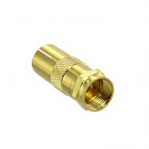 F Plug To PAL Adaptor Gold Plated FP6248G