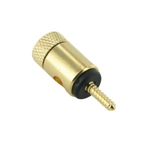 Gold Plated Speaker Terminal Pins Black 6mm Entry Takes 10AWG PT3020B