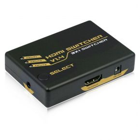 3-Way HDMI Switch with Remote v1.4 HDSW4K3