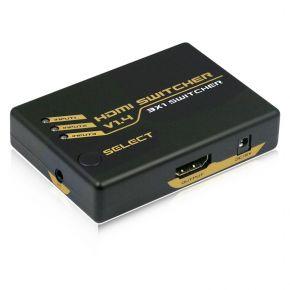 3-Way HDMI Switch with Remote v1.4 HDSW4K3