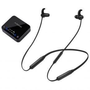 Avantree HT4186 Wireless TV Audio Bluetooth Earbuds & Transmitter Set