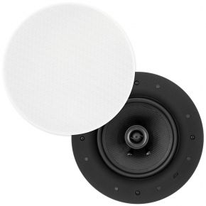 "Selby 6.5"" Kevlar Cone In-Ceiling Speakers Pair Ultra Discreet Edgeless Frameless ICFS6"