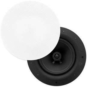"Selby 8"" Ultra Discreet Edgeless Frameless In Ceiling Speakers Pair ICFS8"