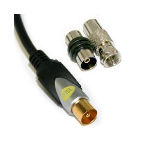 3m ISIX High Quality Coax Antenna Cable With Adapters IHT7503