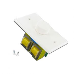 In Wall Stereo Volume Control Wall Plate 100W White A1019