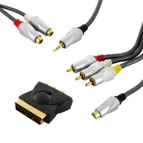ISIX 3RCA Composite Video & Stereo Audio + S-Video SVHS Audio Video Cable IQK9021