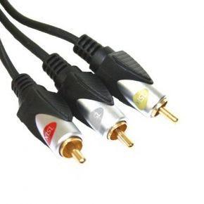 3m ISIX 4mm Composite AV Audio Video Cable 3RCA IHT4300