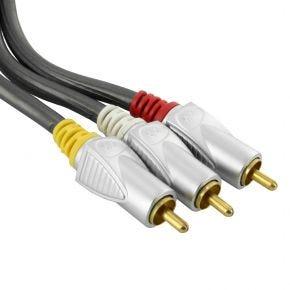 75cm ISIX Pro HQ Composite AV 3RCA Audio Video Cable Lead IQC4075