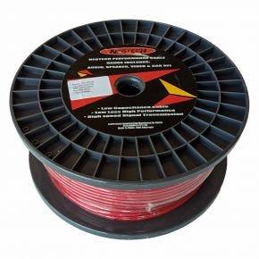 100m Origin Audio Speaker Cable Single Core Car Power 8 AWG Red KPC2108