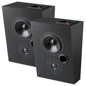 Krix Dynamix On-Wall Main Speakers (Pair) in Black Timber Veener