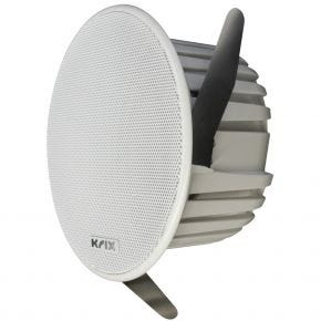 "Krix Helix 6"" Poly Cone In-Ceiling Single Speaker White"