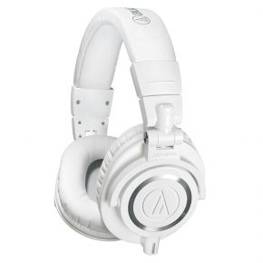 Audio-Technica ATH-M50XWH Studio Monitoring Over-Ear Headphones White M50XWH