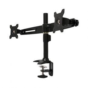 Dual Two 2 LCD Screen Monitor Desktop Mount Stand with Clamp Base MC742
