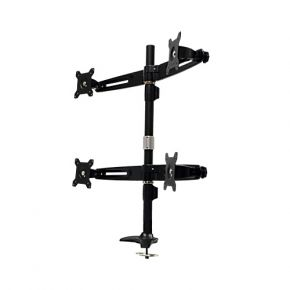 Quad 4 LCD Screen Computer Monitor Mount Stand with Grommet Base MG744