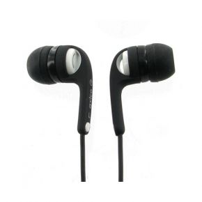 Avico ListenIn Earphones Earbuds 100 Series with Inline Volume Control Black & White MHP130W
