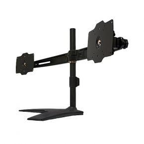 Dual XL LCD 2 Screen Monitor Freestanding Desk Stand VESA 200