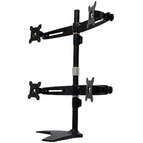 Quad Monitor Desk Stand for 4 LCD MS744