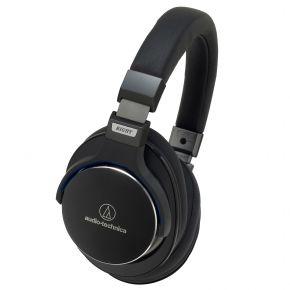Audio-Technica ATH-MSR7 Black Premium High Res On-Ear Headphones w/ Control