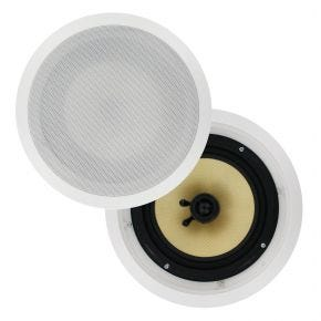 Pair of 8inch Selby In Ceiling Speakers Kevlar Woven 150W RMS CS808