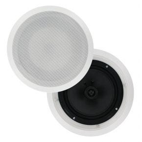 Pair of 8inch In Ceiling Surround Speakers Carbon Cone 150W CS809