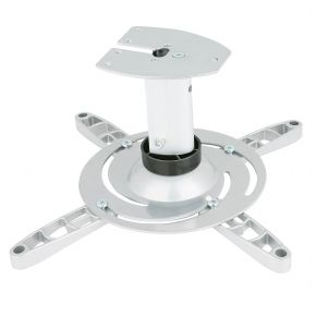 Universal LCD / DLP Projector Bracket Ceiling Mount 15kg White PM101w