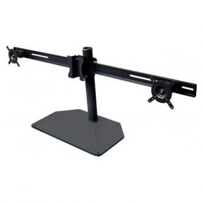 "Up to 22"" B-Tech 3 Triple LCD Screen Monitor Stand Desktop Mount Black VESA 50 75 100 BT7333B"