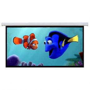 "90"" 16:9 Motorised Retractable Projector Screen"