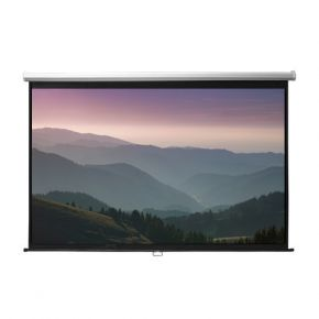 "Manual Pull-Down Retractable 16:9 Projector Screen 90"" Inch PSBA90"