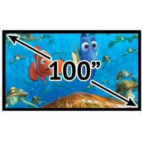 "Fixed Frame Deluxe 16:9 Projector Screen 100"" Inch PSF169100P"