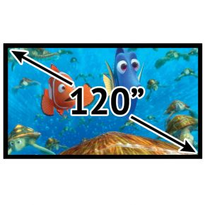 "Fixed Frame Deluxe 16:9 Projector Screen 120"" Inch PSF169120P"