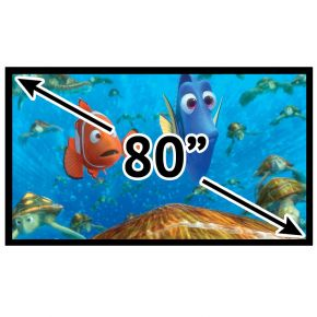 "Fixed Frame Deluxe 16:9 Projector Screen 90"" Inch PSF16990P"