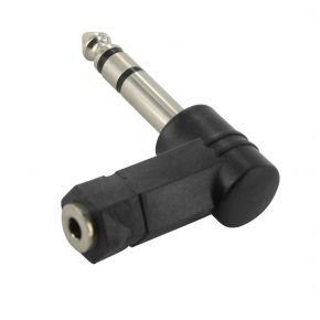 Rt angle 1/4 stereo plu to 3.5mm stereo jack AA1309
