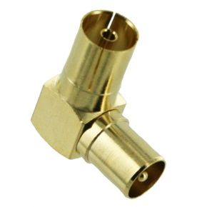 Right Angle PAL Male to PAL Female TV Antenna Aerial Connector Adaptor MP6289G