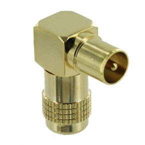 Right Angle PAL Terminal Plug End for Antenna Aerial Cable PP0886