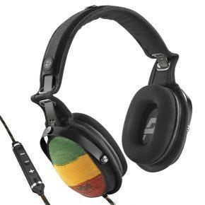 House of Marley Rise Up Over Ear Headphones 3 Button Mic Rasta EMJH063RA