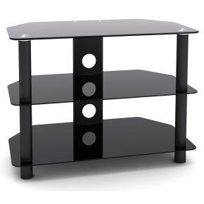 3 Shelf Rack HiFi Stand 650mm Wide Black SA1001S