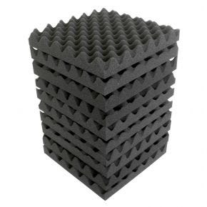 "10pk 30x30cm ""Eggshell"" Sound Foam Panels Tiles Acoustic Treatment SA2300"