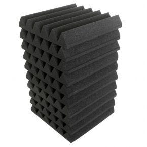 "10pk 30x30cm ""Wedge"" Sound Foam Panels Tiles Acoustic Treatment SA3300"