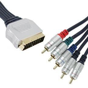 10m SCART to Component YUV Video Audio suits Foxtel SC95285R.10m