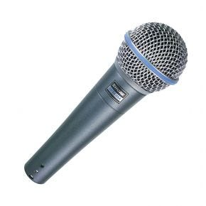 Shure BETA 58A Supercardioid Dynamic Vocal Microphone & Clip