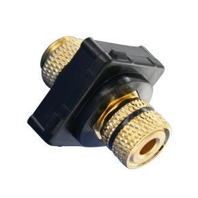 Speaker Cable Terminal For Custom Wall Plate Black on Black 05BC5BKB