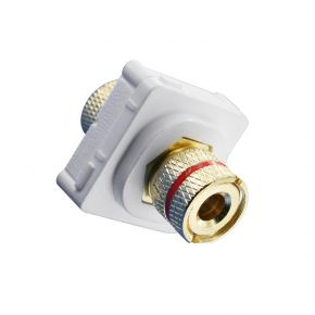 Speaker Cable Terminal For Custom Wall Plate Red on White 05BC5R