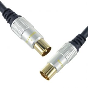 TV Antenna Flylead RF Male - Female Gold Plated Cable SR9508