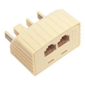 Avico Telephone Adaptor Australian Plug To 2 US Modular Sockets TA15