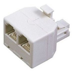 Avico Telephone Adaptor US Modular Plug to 2 US Modular Sockets TA25