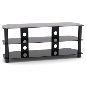 3 Shelf Rack TV Stand 1200mm Wide Black SA1001L