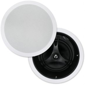 "Selby 8"" Glass Fibre Cone Angled In Ceiling Centre Speakers Pair XD8205B.x2"