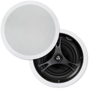 "Selby 8"" Glass Fibre Cone In Ceiling Centre Speakers Pair XD8215B.x2"