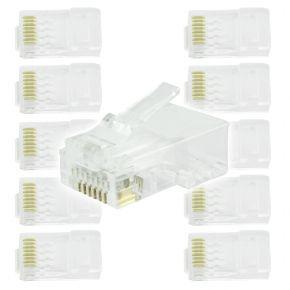 10pk RJ45 8P8C CAT6 Plugs CAT6PLUG10
